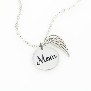 To The World Love Wing Pendant Necklace Gift For Moms!