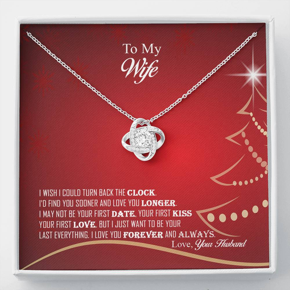 Amazing Love Knot Pendant Necklace Christmas Gift For Wife!