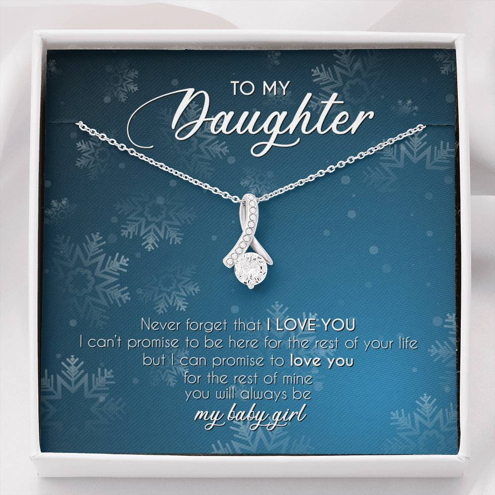 To My Daughter Alluring Beauty Pendant Christmas Gift