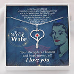 To My Nurse Wife  With Love Pendant Necklace