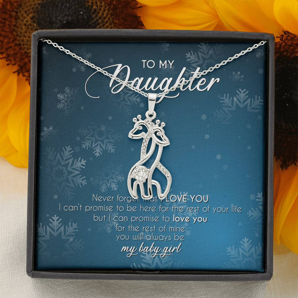 To My Daughter With Love Pendant Necklace Christmas Gift