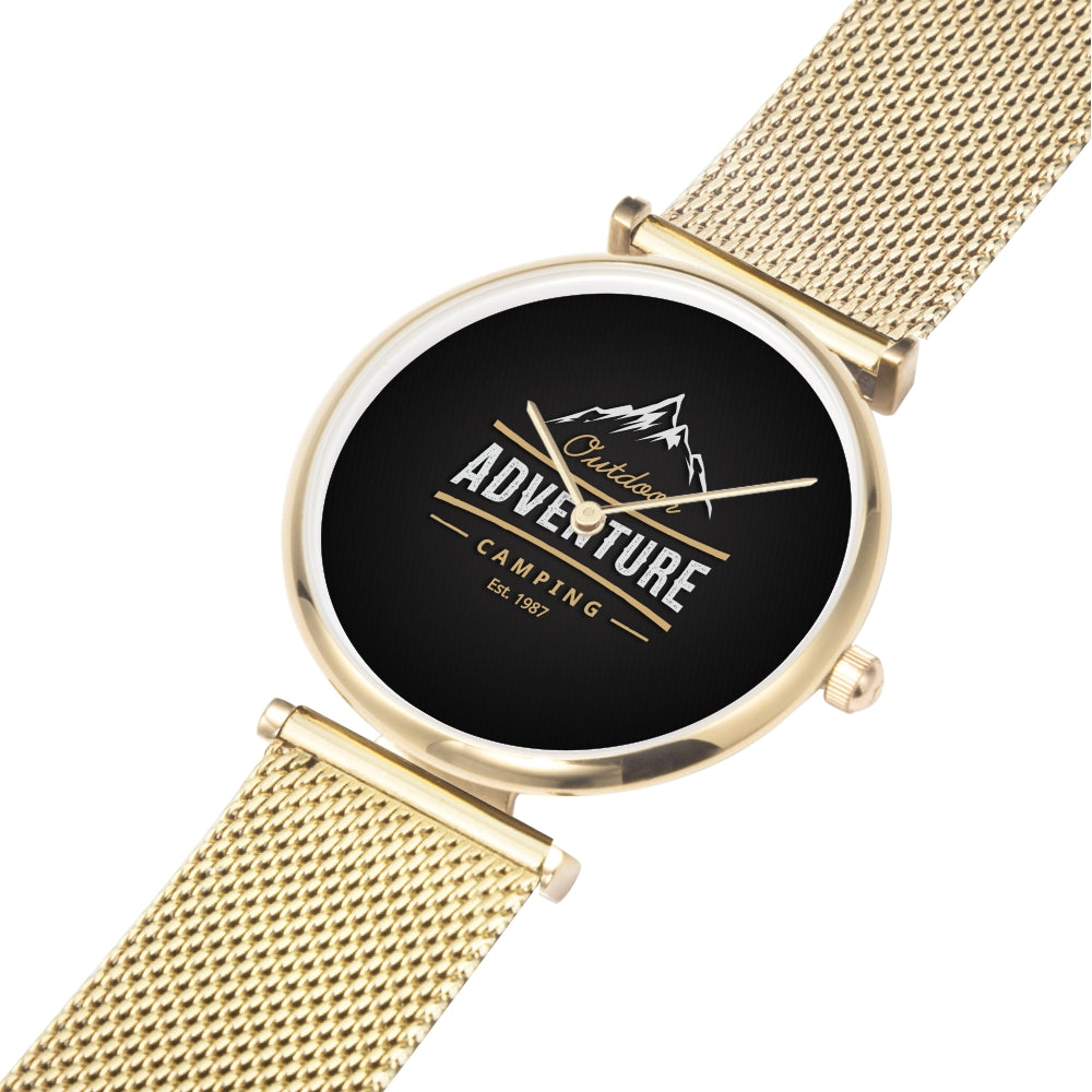 Father's day Gift 2020, Amazing Water Resistance Gold Wrist Watch Personalized Gift For Dad