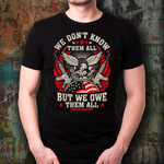 We Don't Know All Veterans Custom T-Shirt