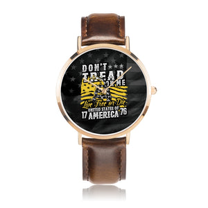 Father's Day Gift 2020, Amazing Customized Citizen Leather Band Watch Personalized Gift For Dad