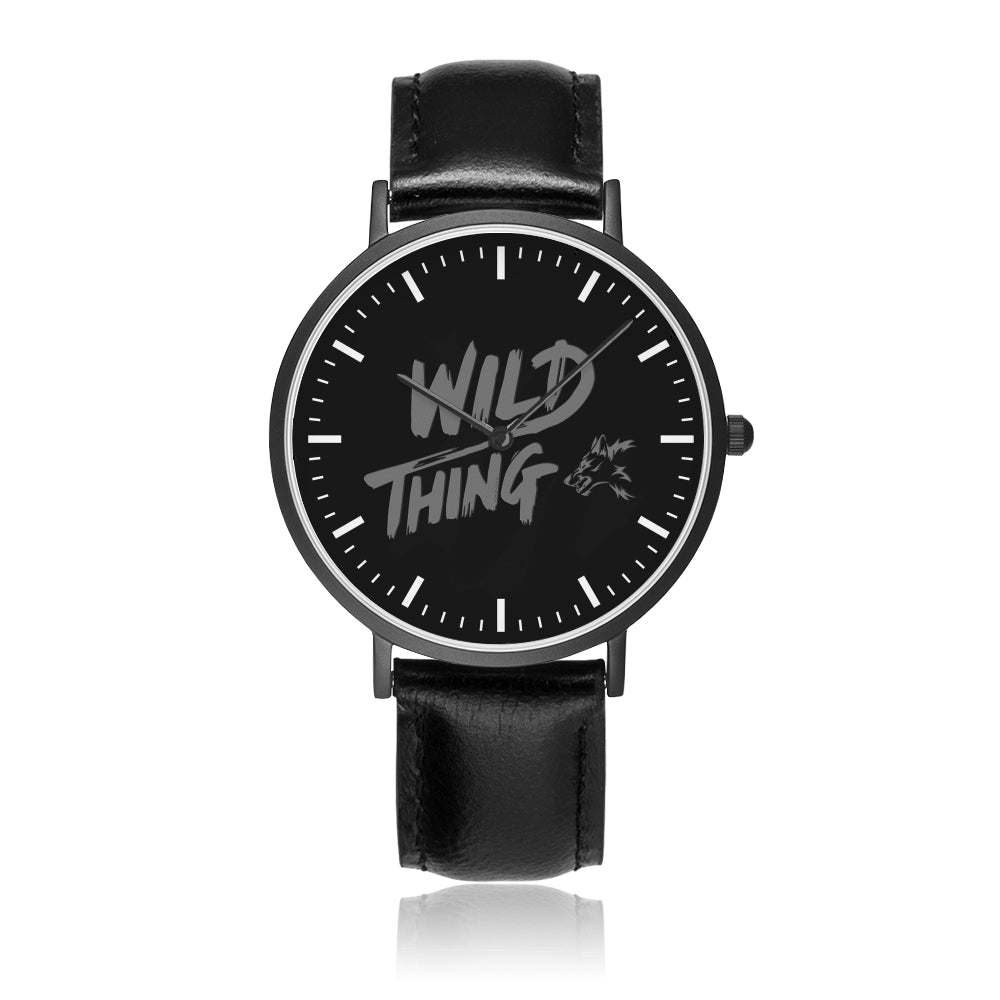 Father's Day Gift 2020, The Wild Life Customized Citizen Leather Band Watch Personalized Gift For Dad