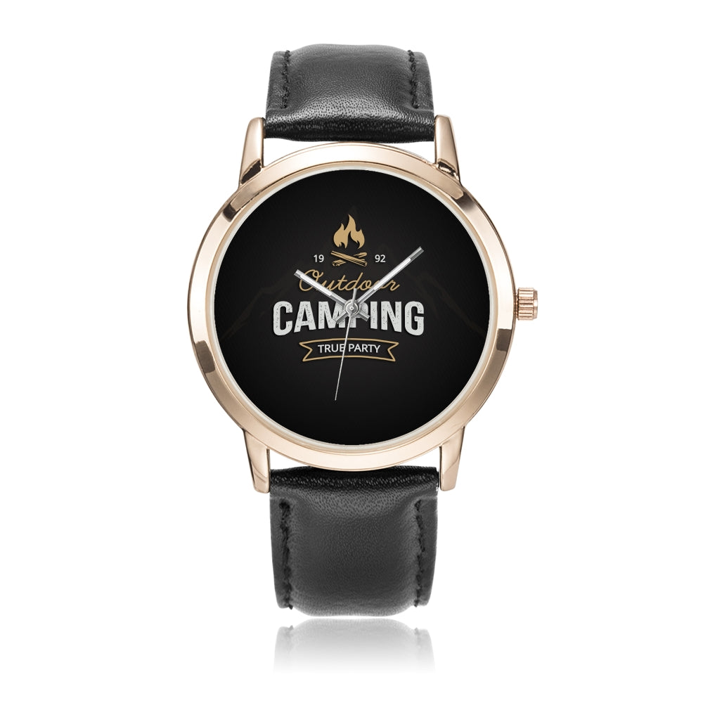 Father's Day Gift 2020, Rose Gold Water Resistance Watch Personalized Gift For Dad