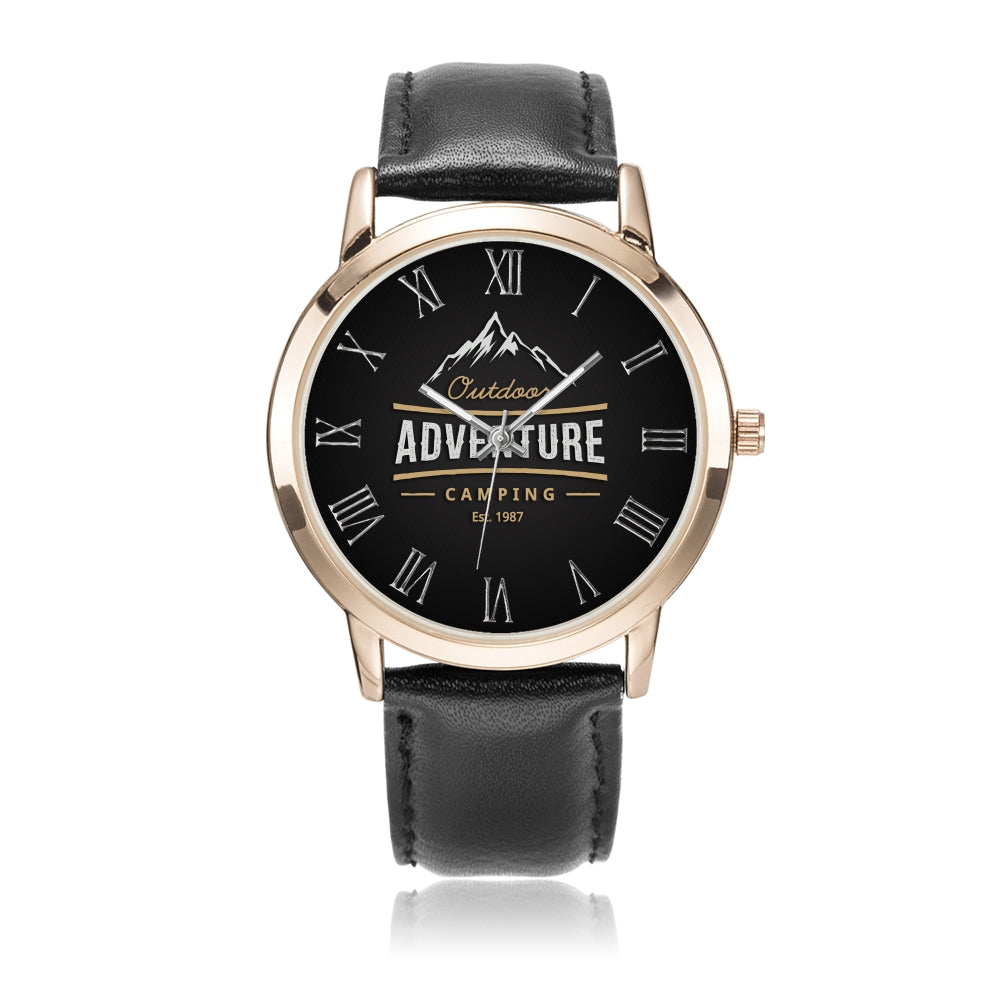 Father's day Gift 2020, Amazing Adventure Gold Water Resistance Wrist Watch Personalized Gift For Dad