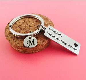 "Personalised ""Drive Safe"" Key Chain"