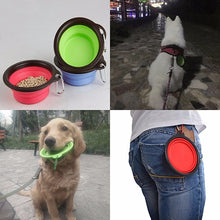 Load image into Gallery viewer, 1 Silicone Folding Dog Bowl