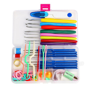 Box Set of 16 Assorted Crochet Hooks and knitting Needles