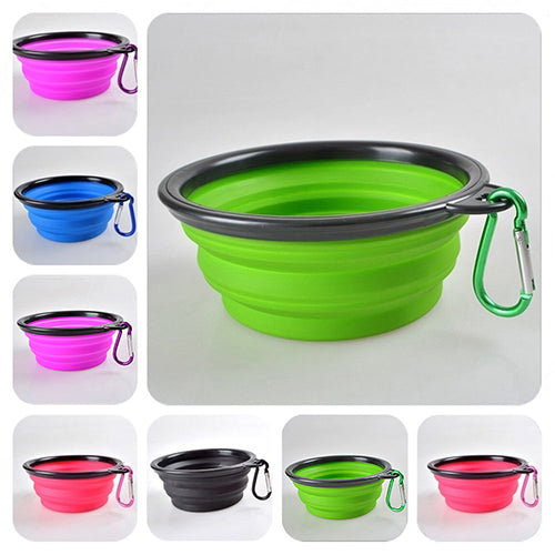 1 Silicone Folding Dog Bowl