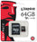 Kingston 64GB Micro SD Card - With Adapter - KING-MICRO/64GIG