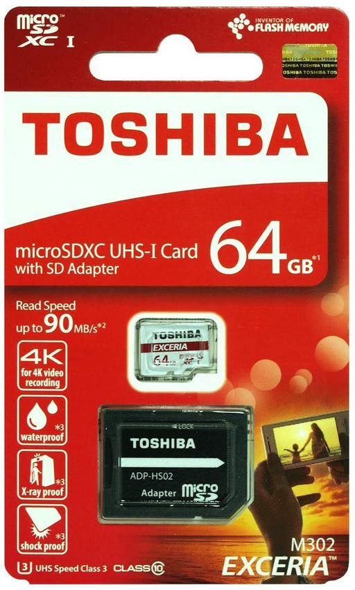 Toshiba 64GB Micro SD Card - With Adapter - SD-MICRO-64GB