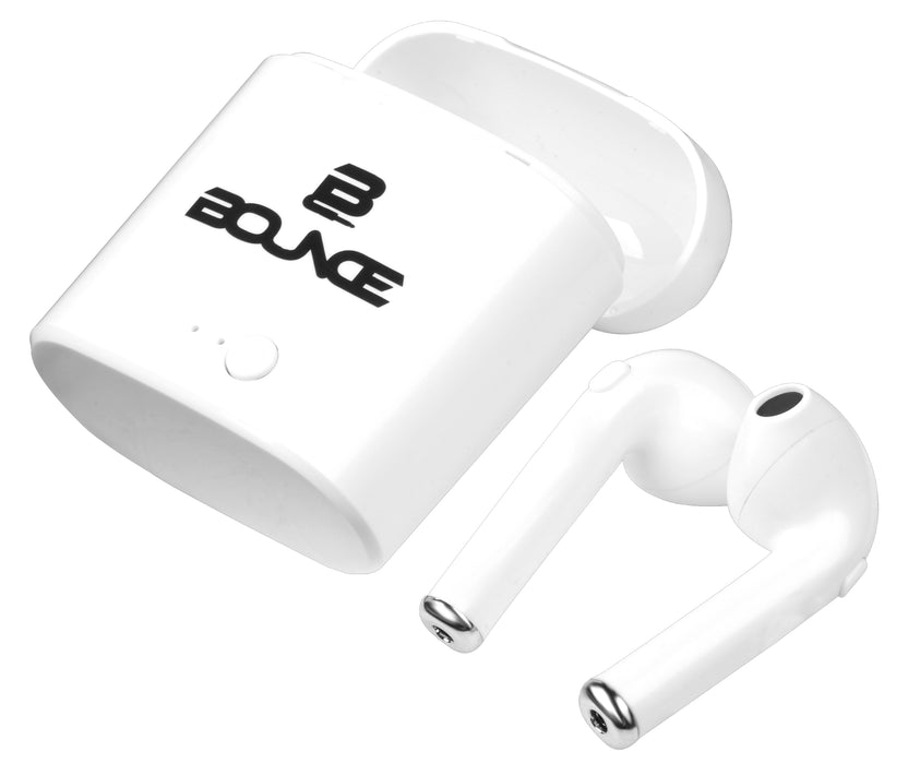Bounce True Wireless Earphones With Charging Case - BNCE-1111/WHT