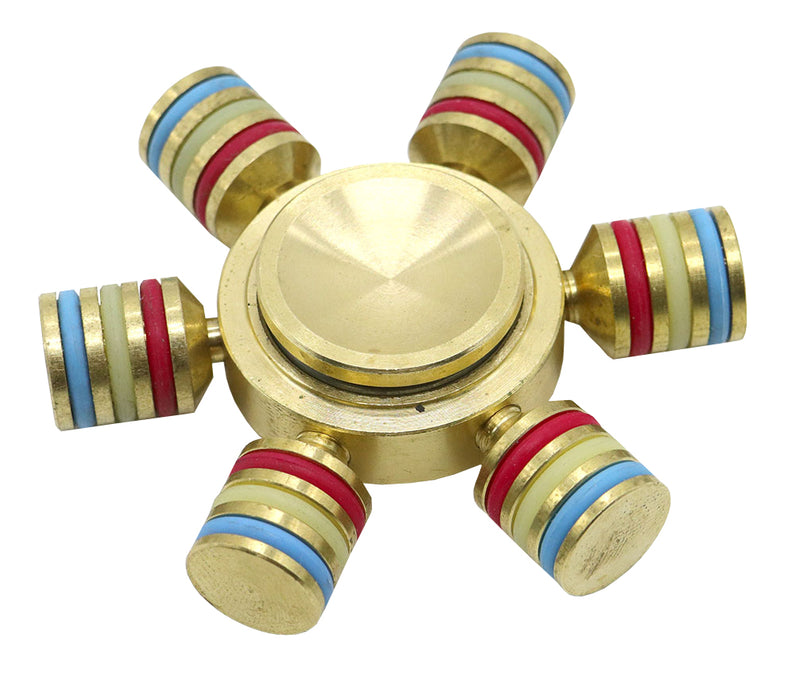 Rainbow Brass Spinner - SPIN-8