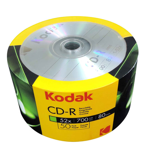 KODAK CD-R 52x 700MB 80 Min 50 Pack - CD-KD-50