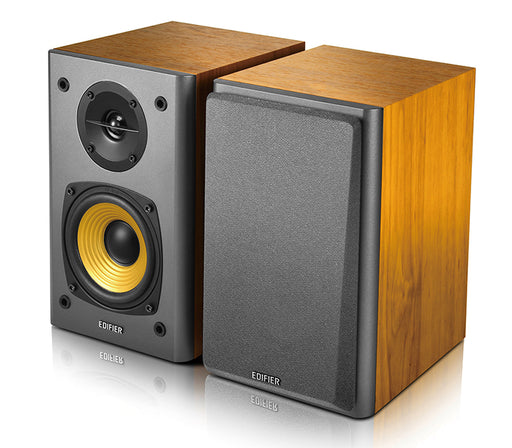 Edifier R1000T4 Active 2.0 Bookshelf Speaker System - Brown - CM-R1000T4/BRN