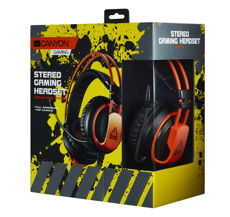 Canyon 3.5mm Jack Pro Level Gaming Headset With Microphone - Orange - CND-SGHS5