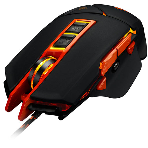 Canyon Wired 9 Button USB LED Gaming Mouse With Adjustable DPI - Black / Orange - CND-SGM6N