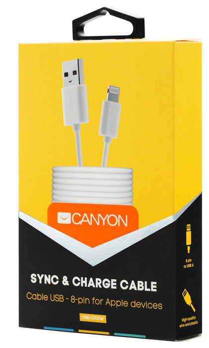 Canyon Simple Sync & Charge 8-pin Lightning Cable - White - CNE-CFI1W