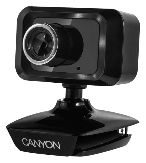 Canyon 1.3MP USB Webcam With Integrated Microphone - Black - CNE-CWC1