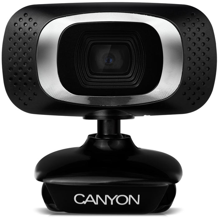 Canyon USB Webcam With Integrated Microphone - Black - CNE-CWC3