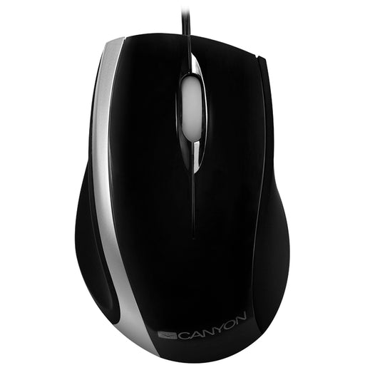 Canyon Wired USB Optical Mouse - Black / Silver - CNR-MSO01NS