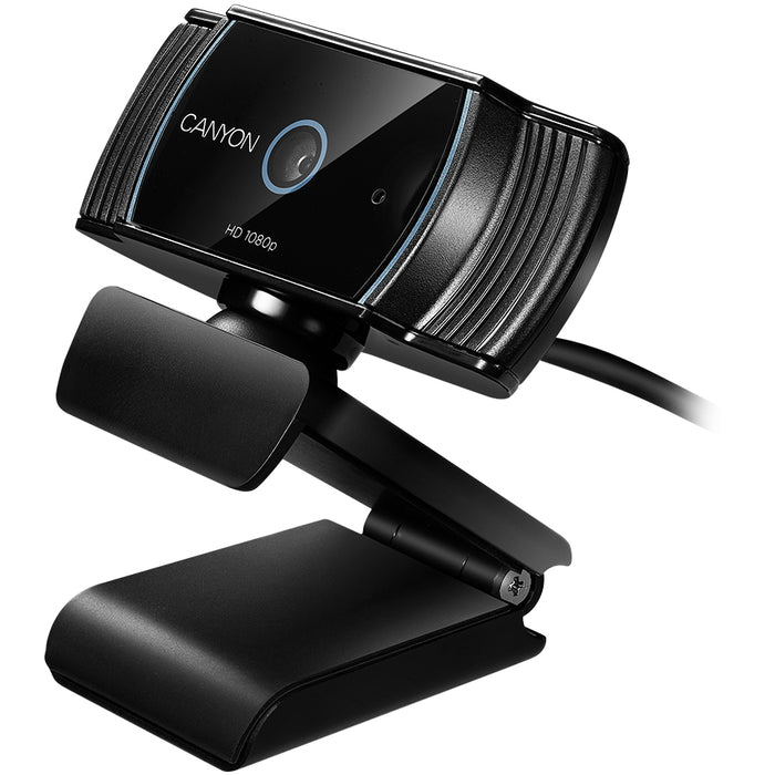Canyon Full HD USB Webcam With Integrated Microphone - Black - CNS-CWC5