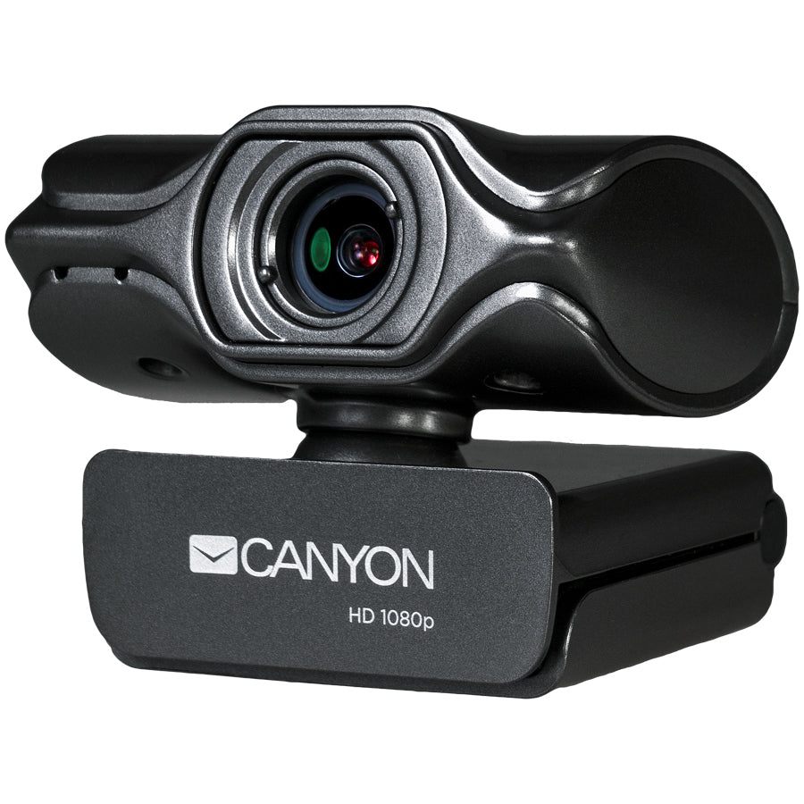 Canyon 2K Quad HD USB Webcam With Integrated Microphone - Black - CNS-CWC6