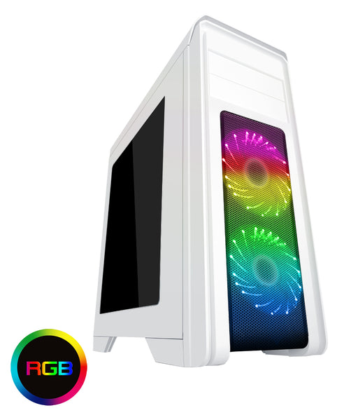 Game Max Falcon Midi Tower Gaming PC Case - White - CSE-FALCON/WHT