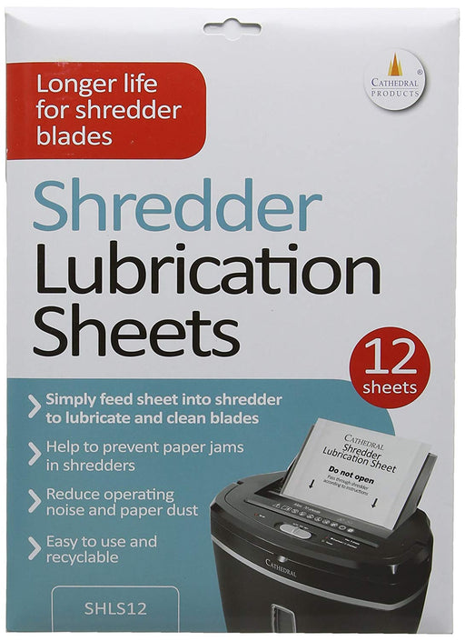 Cathedral Shredder Lubricant 12 Sheets - CATH-SHEET-LS12