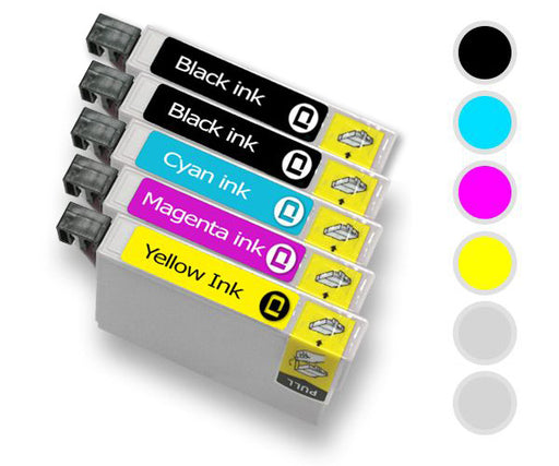 Epson 202XL Combo Compatible Ink Cartridge Multi Pack Of 5 - INK-E202XL/COMBO