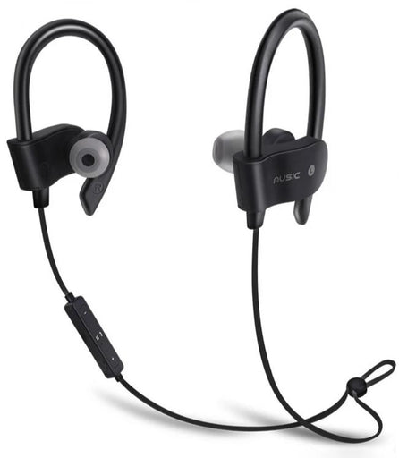 Jedel Gear111 Wireless Sports Hook-On Earphones - Black - EAR-JED-GEAR111