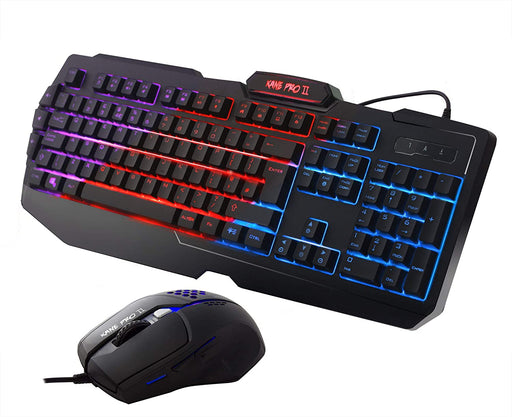 Sumvision Nemesis Kane Pro II LED Multi-Colour Backlit Gaming Keyboard & Mouse Set - KB-GAM-KPRO2/COMBO