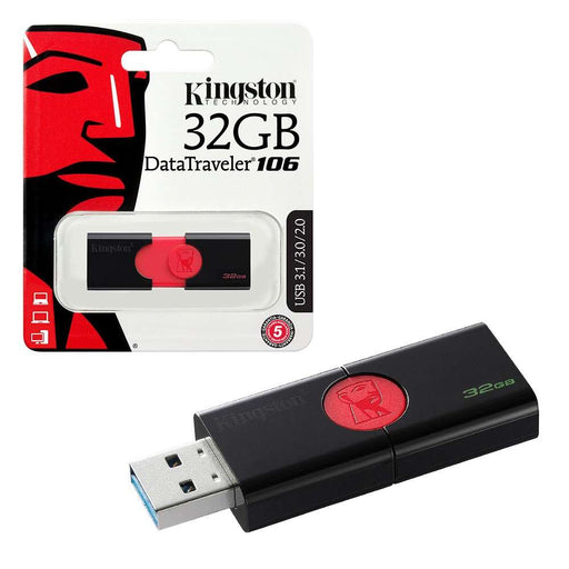 Kingston DataTraveler 106 3.1 USB Flash Pen Drive - 32GB - KING-USB/32GIG
