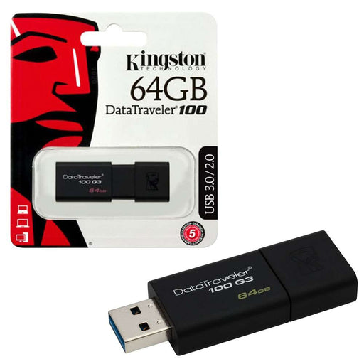 Kingston DataTraveler 100 3.1 USB Flash Pen Drive - 64GB - KING-USB/64GIG