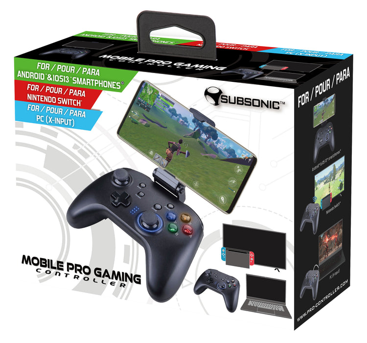Subsonic Bluetooth Multi Platform Gaming Controller For Android, iOS, PC and Switch - Black - SUB-5558