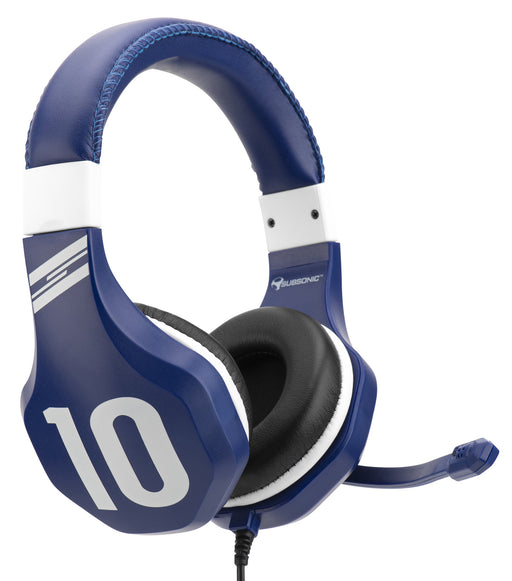 Subsonic Wired Football Gaming Stereo Headset for PS4, XBOX ONE, PC and Switch - Blue - SUB-5582/BLU
