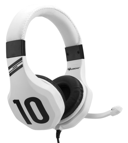 Subsonic Wired Football Gaming Stereo Headset for PS4, XBOX ONE, PC and Switch - White - SUB-5582/WHT