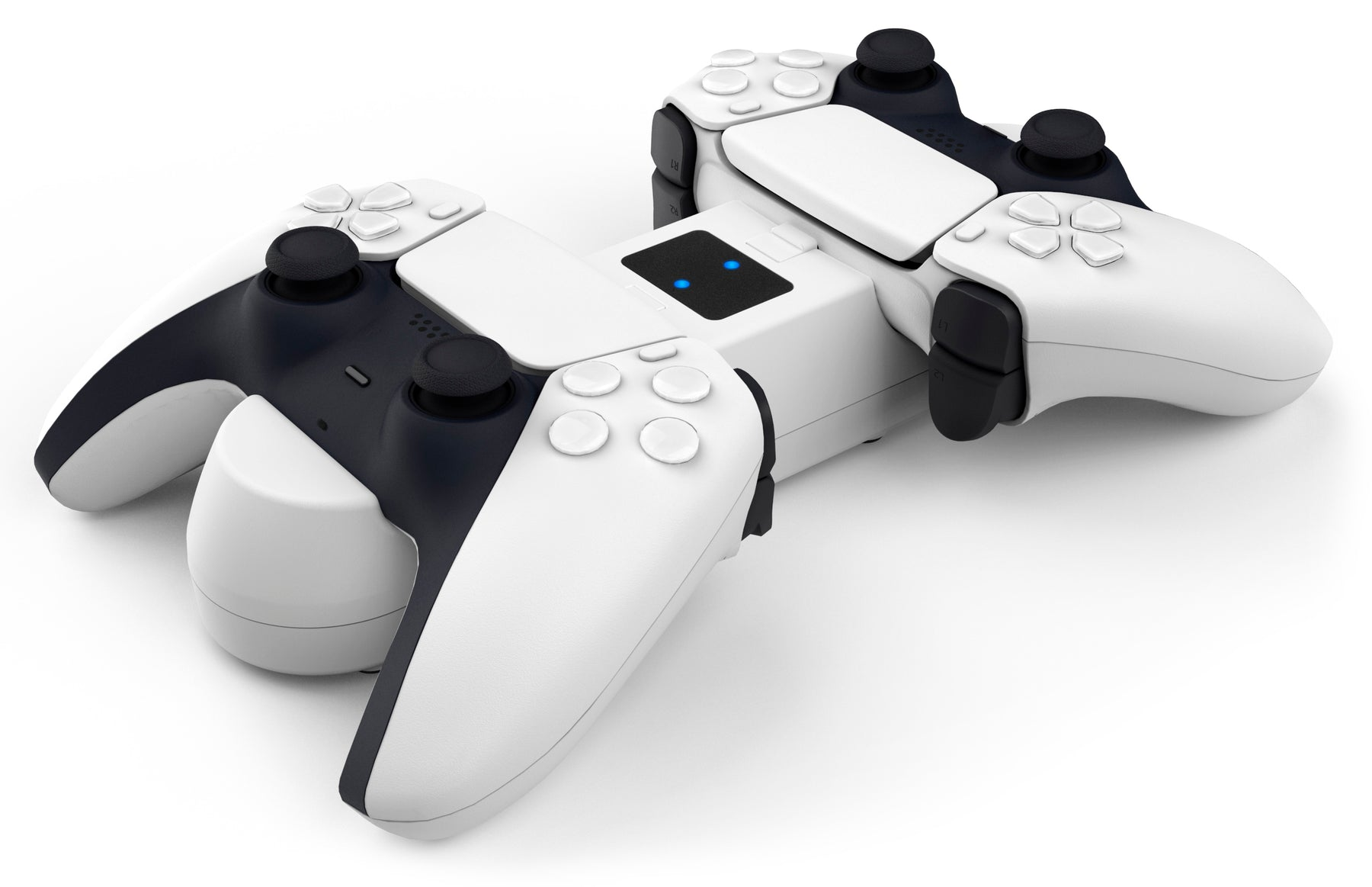 Subsonic Dual Charging Station For PS5 PlayStation 5 DualSense Controllers - White - SUB-5599