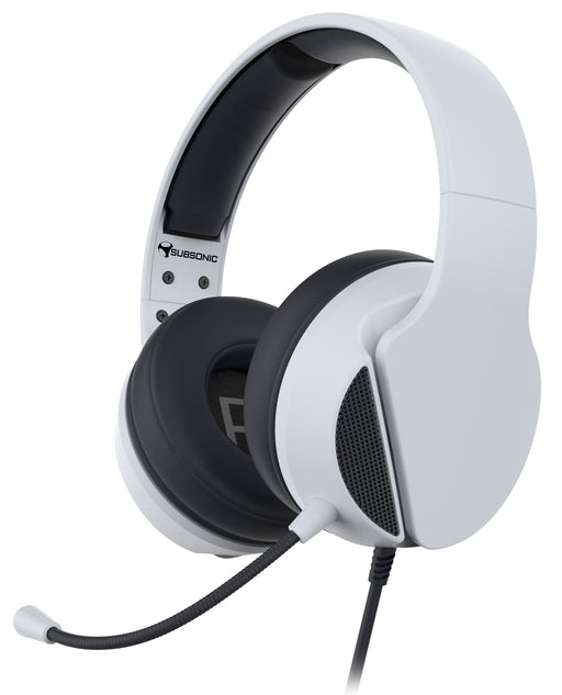 Subsonic Wired Gaming Headset With Microphone For PS5 PlayStation 5 - White - SUB-5602