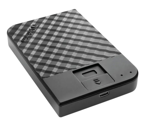 Verbatim 1TB Fingerprint Secure Type C USB 3.1 Portable External Hard Drive - AES 256-Bit Encrypted - VERB-FPRINT-1TB