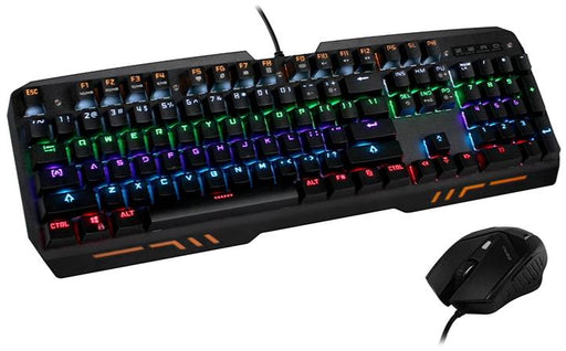 Zero E-Sports Z10 Full Mechanical RGB Gaming Keyboard and Mouse Set - KB-GAM-Z10