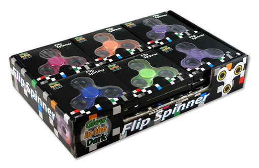 Glow In The Dark Spinners in Countertop Retail Box - 24 - SPIN-BOX2