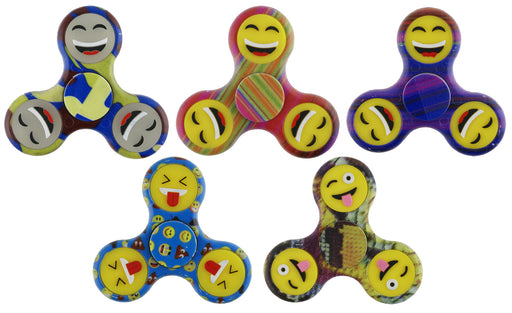 Pattern Smiley Face Spinners - Various Colours - Sold Separately - SPIN-4