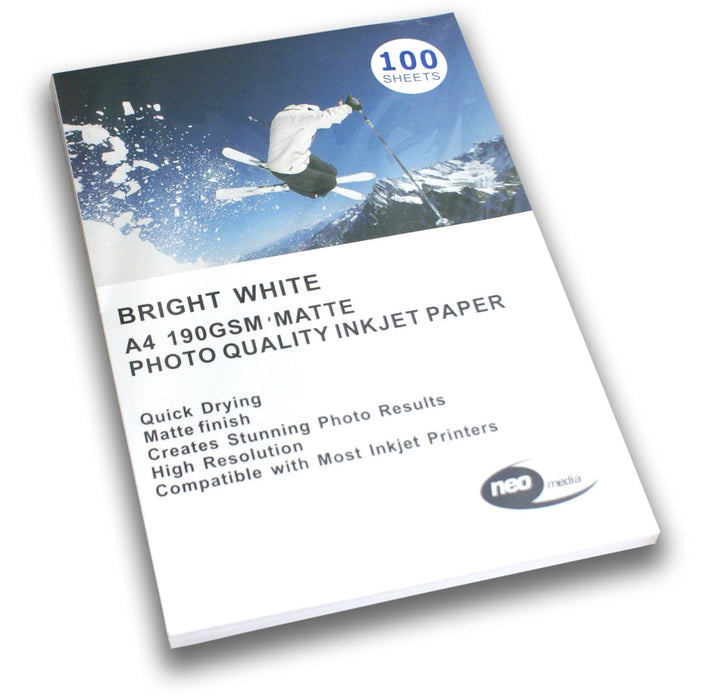 A4 190GSM Matte Photo Quality Inkjet Paper - MATT-190