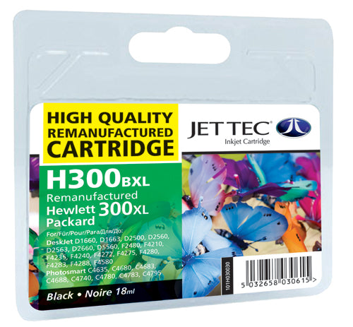 JETTEC HP H300BXL Ink Cartridge - BLACK - C-300BXL