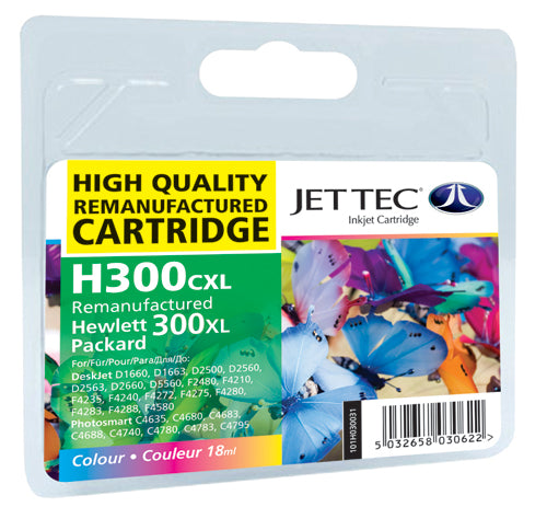 JETTEC HP H300CXL Ink Cartridge - COLOUR - C-300CXL