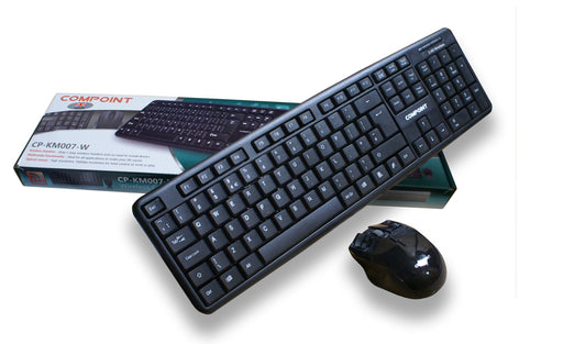 Compoint 2.4GHz Wireless Keyboard and Mouse Combo Bundle - KB-DY-WL007