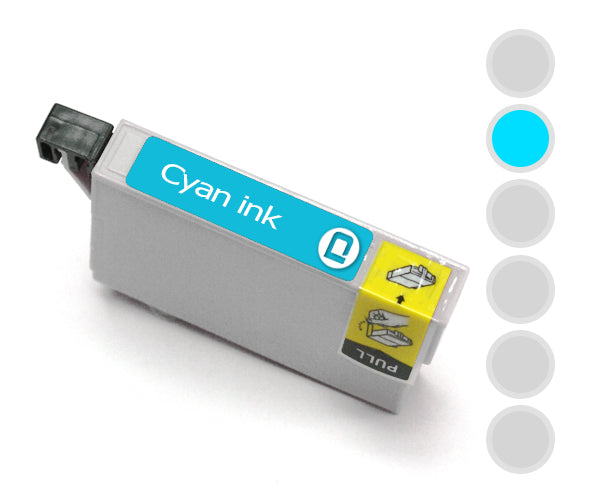 Epson T0712 Cyan Compatible Ink Cartridge - INK-E712/C